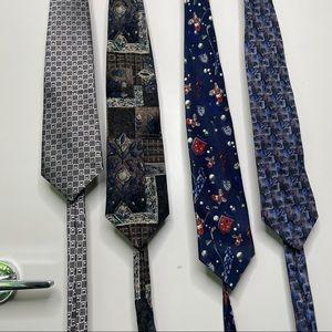 4 brands of silk ties - bundle or separate